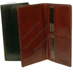 Bond Street Men's Breast Pocket Leather Organizer Checkbook Wallet