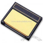 Bonded leather self-adhesive note paper holder