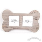Bone-shaped Wooden photo frame