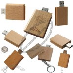 Book Shape Wooden USB Flash Drive with Keychain