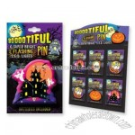 Boootiful Halloween Flashing Pins With Display