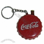 Bottle Cap Shaped Lighter with Bottle Opener and Keychain