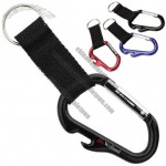 Bottle Opener And Carabiner Clip Combo With Web Strap