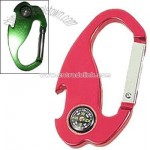 Bottle Opener Carabiner With Compass