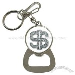 Bottle Opener Key Chain of Bling Diamond Dollar Sign