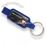 Bottle Opener Keychain with Insurance Theme Stock Art - Full Color Dome