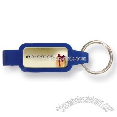 Bottle Opener Keychain with Thank You Theme Stock Art - Full Color Dome