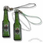 Bottle Shaped Mobile Phone Strap with Screen Cleaner