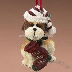 Boyds Bears Ho Ho Ho Dog Christmas Ornament