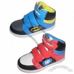 Boy's Sport Shoes, PU Upper, Mesh Lining, TPR Outsole