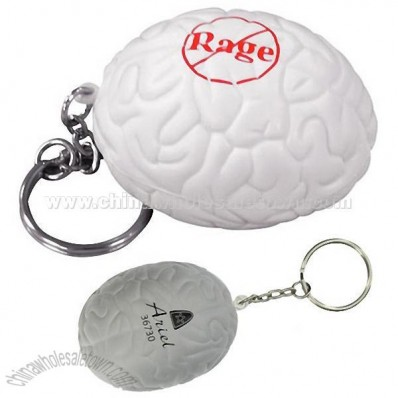 Brain Key Chain Stress Balls