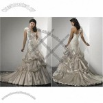 Brand New Champagne A-line One-shoulder Bridal Dress