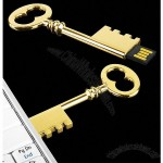 Brando Metallic Gold Key Shaped USB Flash Drives