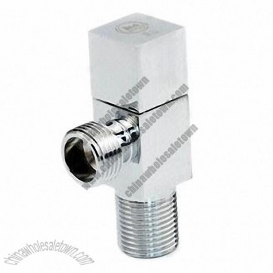 Brass Angle Valve with Polished and Chromed Surface
