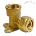 Brass Elbow Seat Pex-Al-Pex Fitting with 1/2, 3/4 and 1-Inch Thread Dimensions