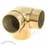 Brass Flush Fitting, Perfect for 1 1/2 and 2-inch Railing