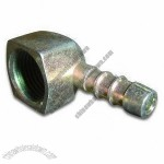 Brass Pipe Compression Fitting with Natural Plating, 1/2-inch x 10 to 80mm