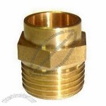 Brass Pipe Compression Fitting with Natural and Chrome Plating, Measures 1/2 Inch x 10 to 80mm