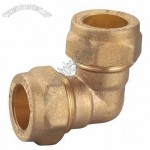 Brass Pipe Fitting with Sand Blast