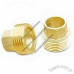 Brass Pipe Fittings, Available in Various Surface Plating