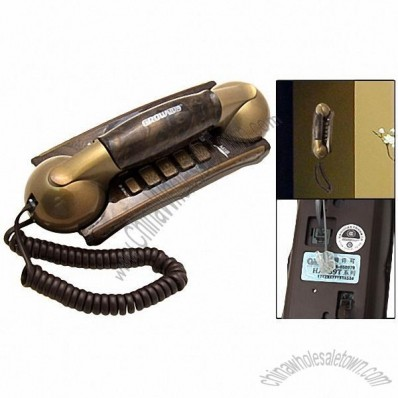 Brass RJ11 Wired Home Office Wall Mount Telephone