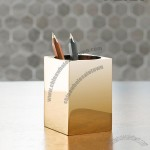 Brass Square Pen Holder