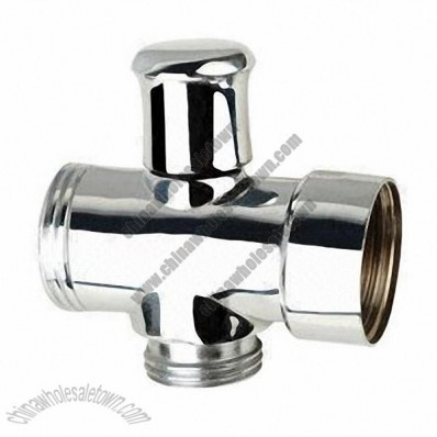 Brass angle valve with chrome plated, 2.5 to 6.4MPa pressure