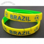 Brazil Football Soccer Fifa World Cup Silicone Wristbands Bracelets