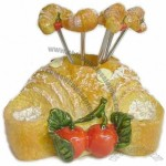Bread Design Stainless Steel Fruit Forks Set