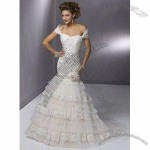 Bridal Gown with Dramatic Styles and Floor Length