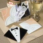 Bride and Groom Coaster Set