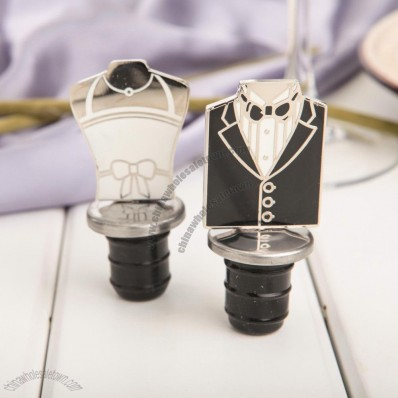 Bride and Groom Wine Bottle Stoppers