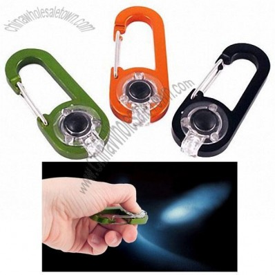 Bright LED Carabiner Keychain Flashlights