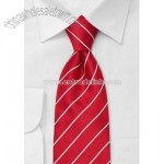 Bright red mens necktie