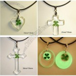 Brilliant Four Leaf Clover Pendant - Transparent