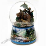 Brown Bears Waterglobe