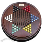 Brown Wooden Chinese Checkers