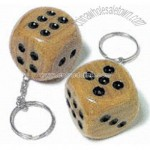 Brown dice key chain
