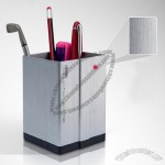 Brushed Aluminum Pen Holder