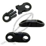 Buckles Black For Paracord Bracelets Plastic Clasp Side Release