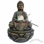 Buddha Polyresin Fountain with Water Pump and LED Lights