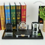 Business Desktop Pen Holder, Notes Boxes, Clock Gift Combo