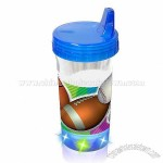 Buztronics Sports BPA Free Light Up Straw Cup