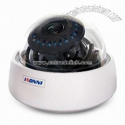 CCTV Dome Camera with IR Cut and 520TVL Horizontal Resolution