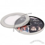 CD-DVD Metal Tin Case Round with Window