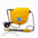Cable Reel with LED Work Light