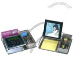 Calculator with Photo Frame and Card Holder Penholder