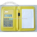 Calculator with notepad