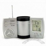 Calendar Pen Holder with Birthday Reminder and FM Radio