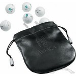 Callaway HX Bite 6 Golf Balls In Debossed Leather Pouch